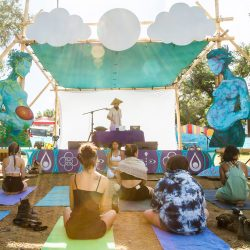 River Stage with Gamelan band performing.