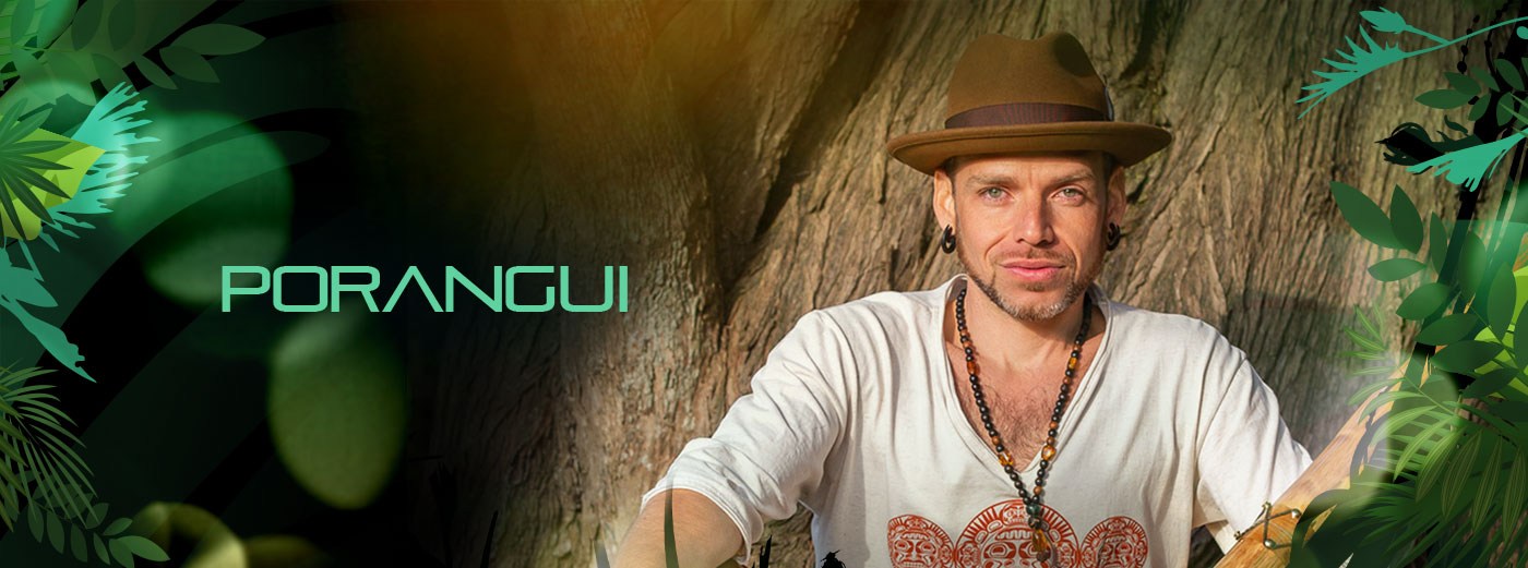 Porangui publicity photo. If linked, click to read about this musician